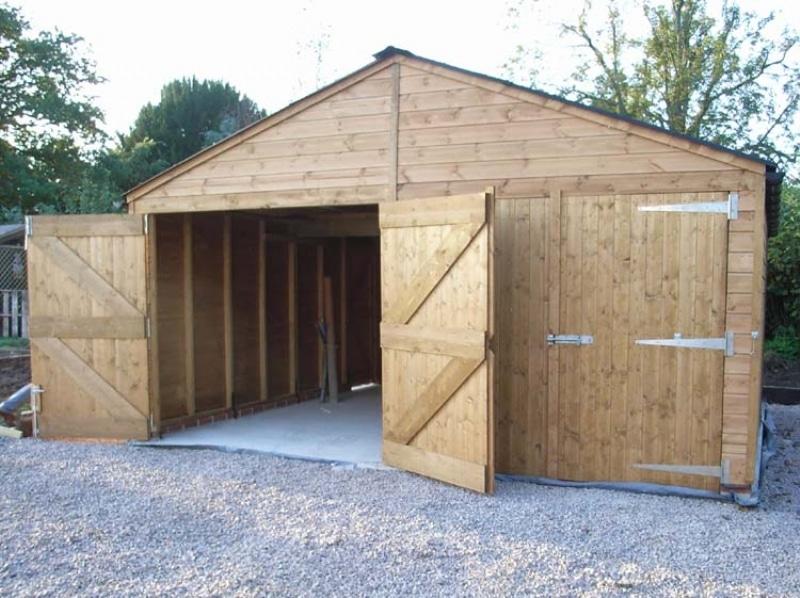Garages and workshops garages double garage for Garage door widths double