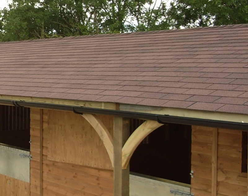 Stable Extras Roof Options Felt Shingles Equestrian