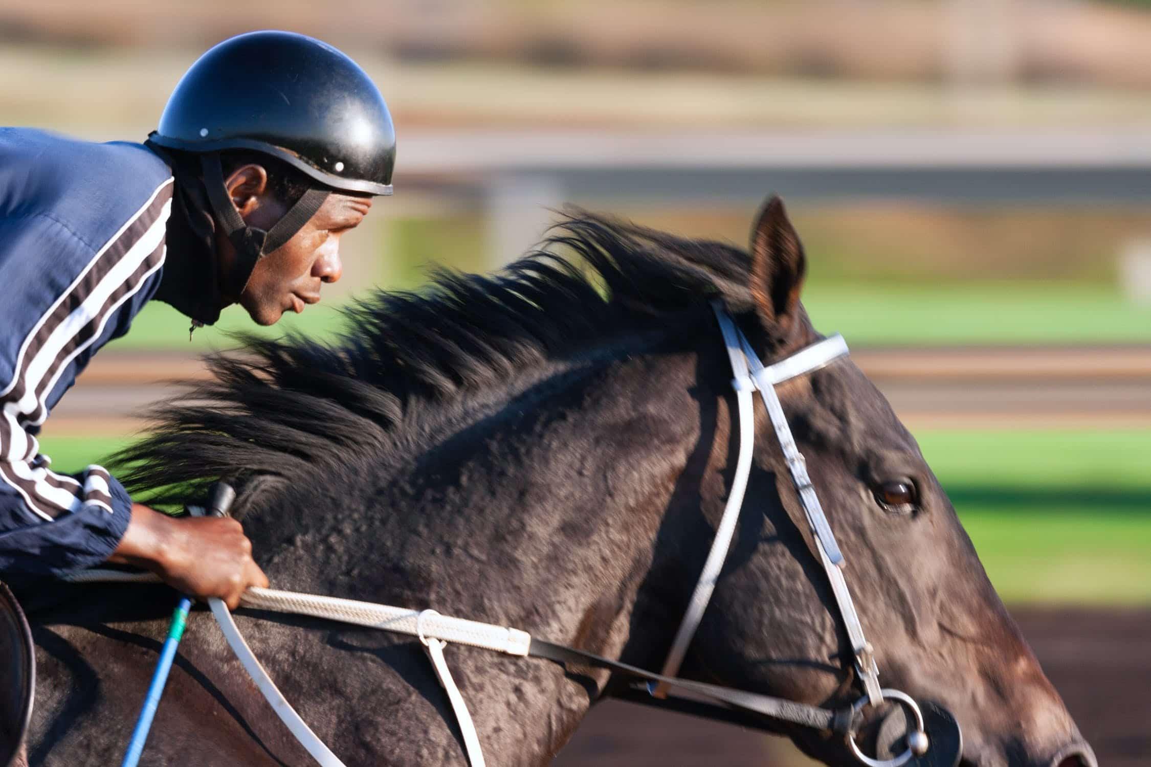 Horse rider racing