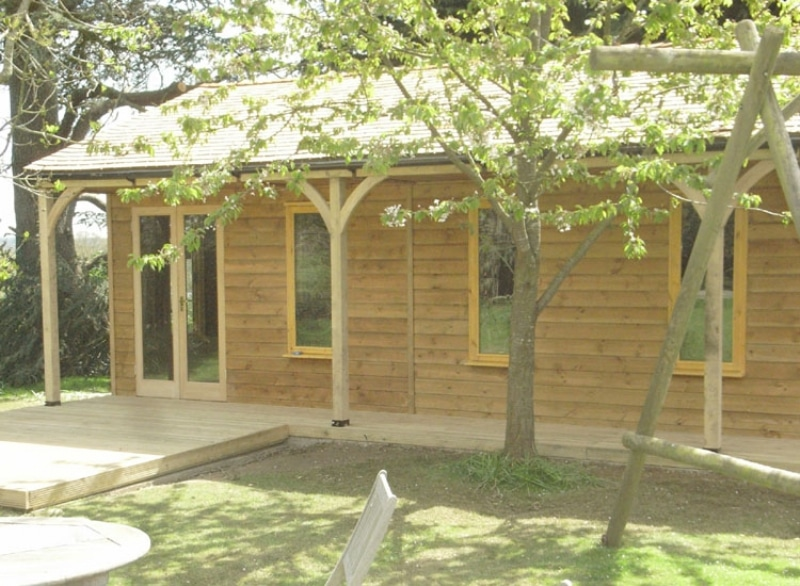 timber frame garden building